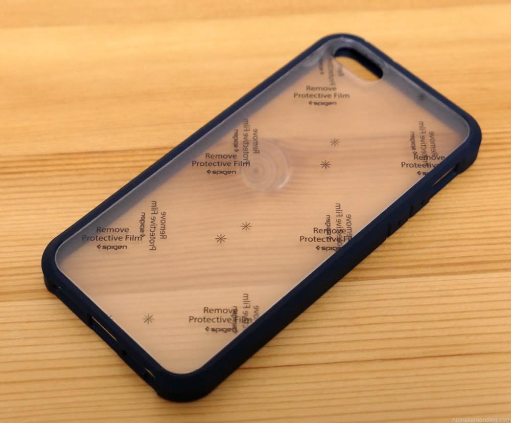 iPhoneSE Spigen クリアバンパー
