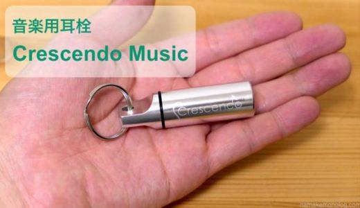 【-19dB】ライブ用耳栓で聴覚を守る!「Crescend Music」レビュー【映画館も可】