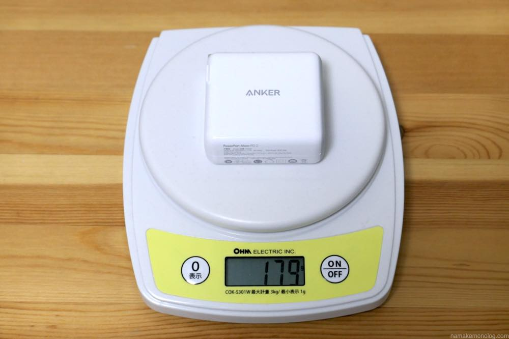 Anker PowerPort Atom PD2 レビュー