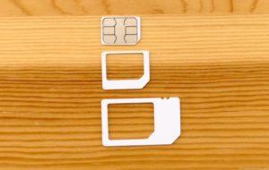 Nomad SIM Prepaid SIMサイズ