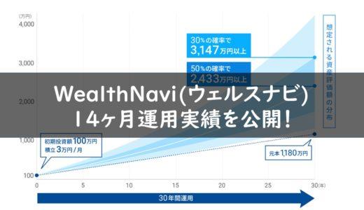 【利回り12%越え】ウェルスナビを14ヶ月続けた運用実績を公開!